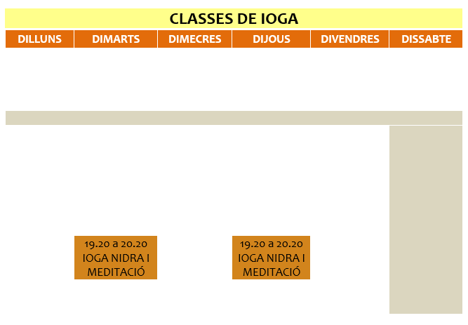 Classes de Ioga Nidra SantBoi